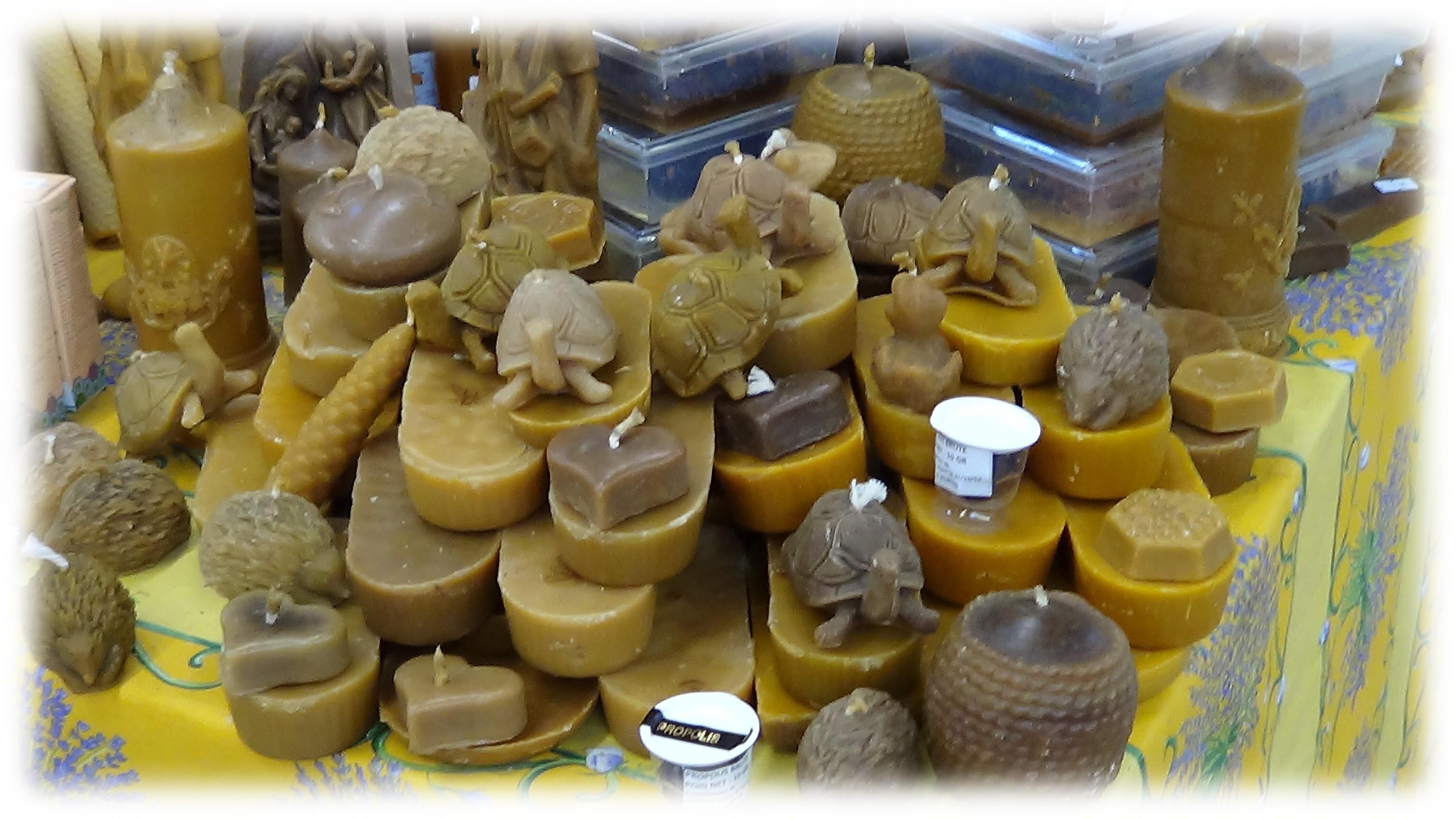 Bougie à la cire d'abeilles naturelle